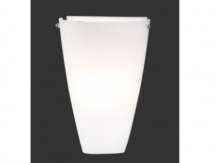 Design Wandleuchte aus matt weißem Glas, Höhe 30cm, Trio-Leuchten