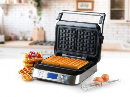 Digitales Doppel Waffeleisen für dicke Belgische Waffeln Profi Waffle Maker 2in1