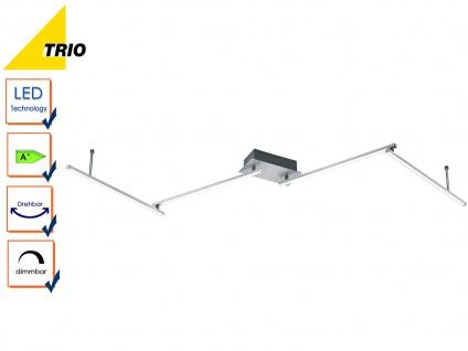 LED Deckenleuchte HIGHWAY Aluminium gebürstet Acryl weiß B. 180 cm