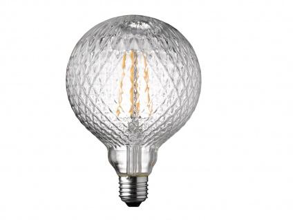 FILAMENT LED Leuchtmittel Glas mit Struktur 4 Watt, 300 Lumen, 1800 Kelvin, E27 - Vorschau 2