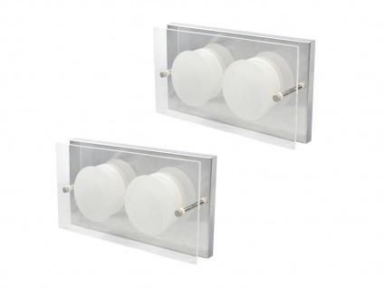 2er Set 2-flammige LED Wandleuchte ENVY, 11, 5 x 22 cm, Wandlampe LED Wandleuchte - Vorschau 2