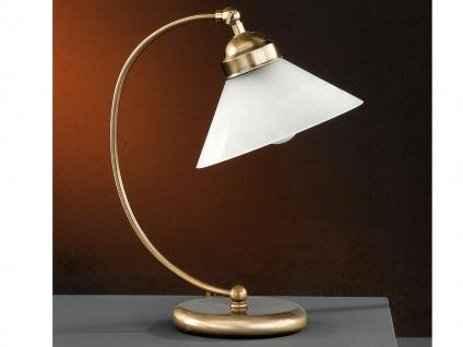 Elegante Tischleuchte Antwerpen, höhe 39 cm, altmessing Honsel-Leuchten