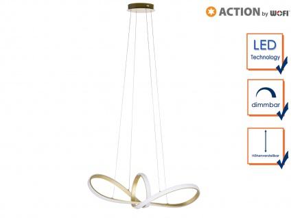 Ausgefallene Pendelleuchte LED dimmbar Gold Designer Deckenleuchten Wohnzimmer