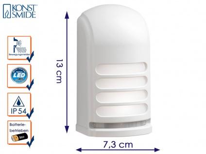 LED Wandaufbauleuchte Nachtlicht PRATO mit Bewegungsmelder batteriebetrieben