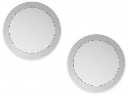 2er Set LED Außenwand- & Deckenlampen silber mit Bewegungsmelder, Smartphone App