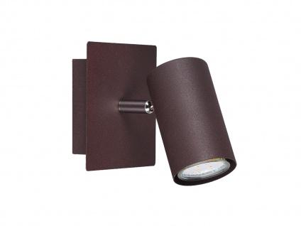 Wandlampe Marley mit einem schwenkbarem Spot & GU10 Sockel, rostfarbig aus Metall