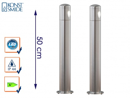 2er-Set massive Aluminium Sockelleuchten MONZA 3W HP-LED IP44