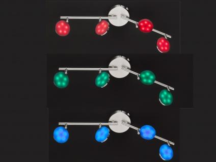 LED Deckenleuchte Fernbedienung dimmbar Farbwechsel Nachtlicht 4 Spots Strahler - Vorschau 3