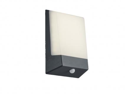 Moderne LED Außenwandleuchte mit Dämerungssensor aus Aluminium in Anthrazit IP54