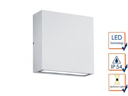 LED Wandleuchte 2er Set für Außen & Innen weiß UP/DOWN - Fassadenbeleuchtung - Vorschau 4