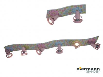 Strahlerleiste XXL 115 cm BLÜMCHEN 6 Spots schwenkbar Beleuchtung Kinderzimmer