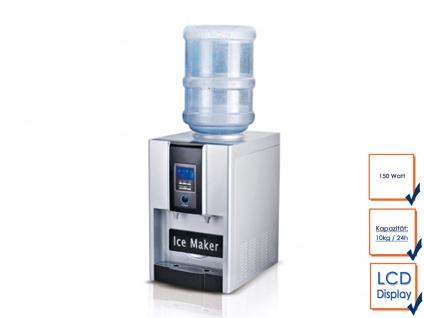 Gastro Eiswürfelmaschine mit Wasser-Dispender Profi Eiswürfelbereiter Icemaker