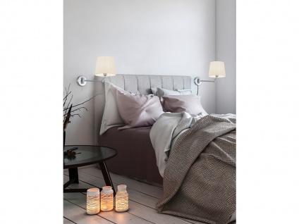 Schwenkbare Wandleuchte mit Gelenkarm - LED Leselampe für Bett und Wandmontage - Vorschau 4