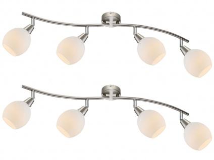 2x LED Deckenlampe Deckenstrahler ELLIOTT, Glasschirme, Deckenleuchte schwenkbar - Vorschau 2