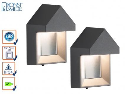 2er-Set edle Wandleuchten COSENZA, anthrazit, 5W LED 400 Lm IP54