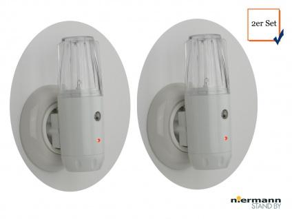 2 Stück Multifunktions-LED-Nachtlicht Taschenlampe Dämmerungssensor Notlicht