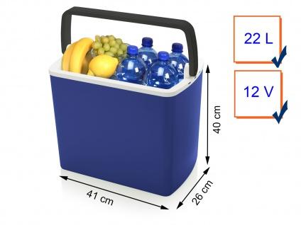 Mobile Thermoelektrische 22 Liter Kühlbox elektrisch 12V für Auto & Camping