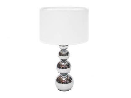 LED Textilschirm Stofflampe Nachttischleuchte mit Touchfunktion, 3 Stufen Dimmer