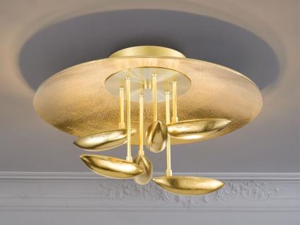 LED Luxus Deckenlampe goldfarben antik 50cm mit Fernbedienung Dimmen Farbwechsel