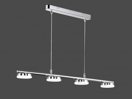 Designklassiker LED Hängelampe Metall in Chrom Pendelleuchte für über Esstisch