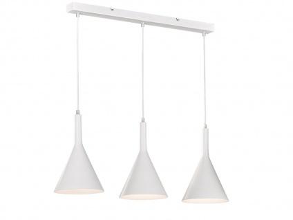 Moderne Honsel Pendelleuchte 3 flammig weiß, E27 Hängelampe für Küche Esszimmer