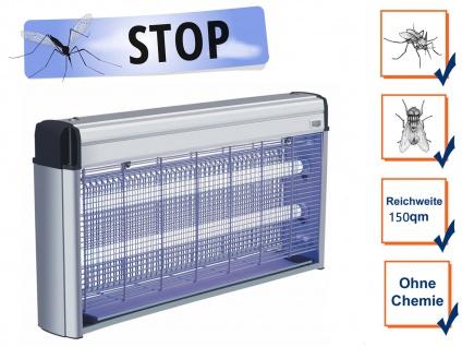 Insektenschutz mit 2x 20W UV Lampe elektrische Falle für Schnaken Fliegen Mücken