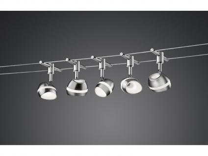 Trio 5m LED Seilsystem Schienensytem SHARK, Deckenleuchte Flurlampen Bürolampen