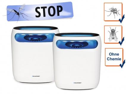 Stechmückenfallen Set mit UV LED, Ventilator & Timer - elektrischer Mückenschutz