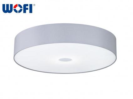 Ersatz Stoffschirm grau für Wofi LED Deckenleuchte TOULOUSE, Ø 80 cm