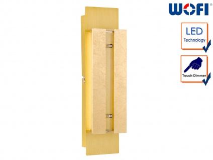 LED Wandleuchte mit Dimmer, Gold, L. 30cm, Wandlampe Wandleuchte Designerlampe