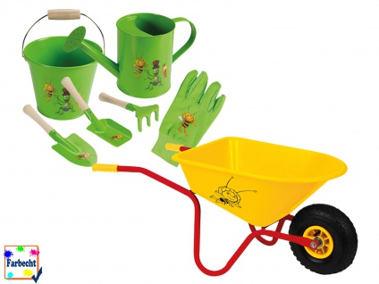 Gartenspielzeug-Set mit Schubkarre -DIE BIENE MAJA- Sandspielzeug