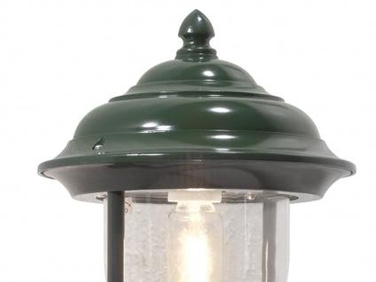 Wandleuchte Außenwandleuchte Laterne PARMA, Aluminium grün, E27, IP43 - Vorschau 4