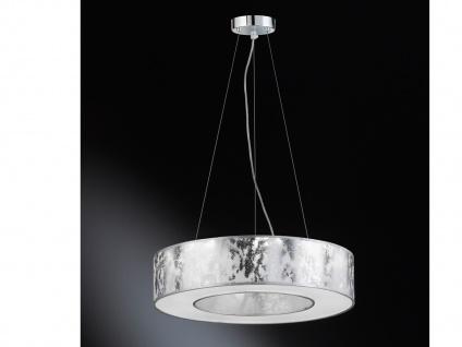 LED Pendelleuchte Ø 51 cm silbern 21W Deckenbeleuchtung Pendel Wohnzimmer - Vorschau 4