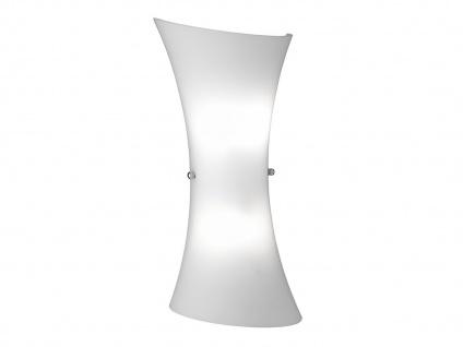 Wandleuchte Glas weiß, Wandlampe Wohnzimmer Flur modern Design, Wofi-Leuchten