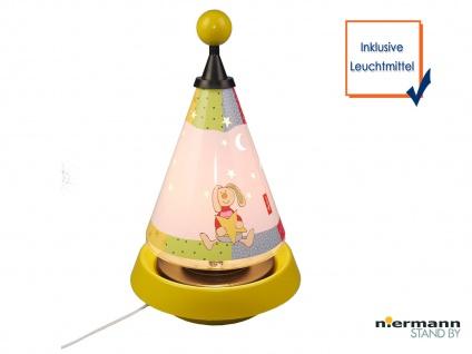 Tischleuchte Carrousel projiziert Mond und Sterne ins Kinderzimmer Nachtlicht