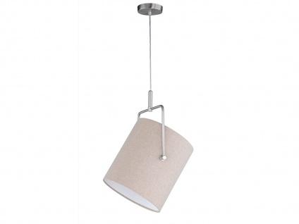 Design Pendelleuchte mit schwenkbarem Stoff Lampenschirm - Textil Hängeleuchte