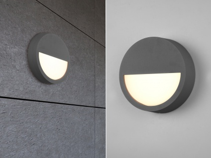 LED Außenleuchten Wandlampen für draußen Anthrazit Terrassenbeleuchtung rund