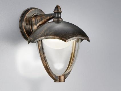 LED Außenwandlampe Außenlaterne Rostoptik Außenbeleuchtung Terrassenbeleuchtung