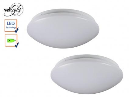 2x LED Deckenleuchten rund Deckenlampen weiß 33, 5cm, Deckenbeleuchtung Flur