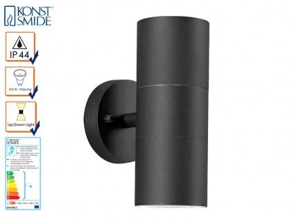Aluminium Up-Down Wandleuchte MODENA schwarz, GU10, Höhe 19, 5cm, IP44