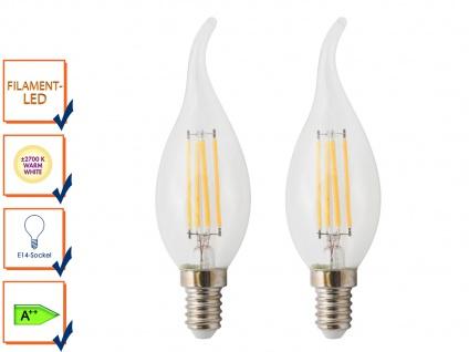 2er-Set FILAMENT-LED Kerze E14, 4W, 400 Lumen, 2700 K, warmweiß