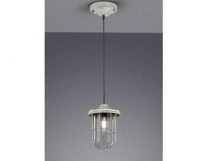 LED Hängelampe grau antik Lampenschirm Glas 14, 5cm, Retro Pendelleuchte Vintage