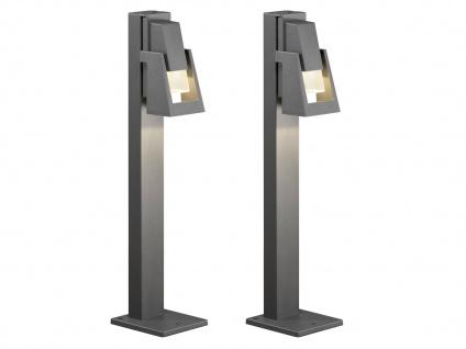 2er-Set Wegeleuchten POTENZA Sockelleuchten austauschbares LED Modul