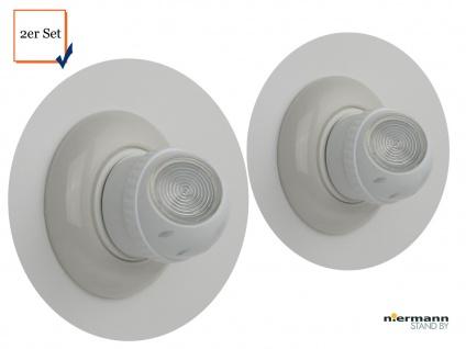 2 LED Nachtlampen Kinderzimmer 360° Rotation, Dämmerungsauotmatik Schlummerlampe