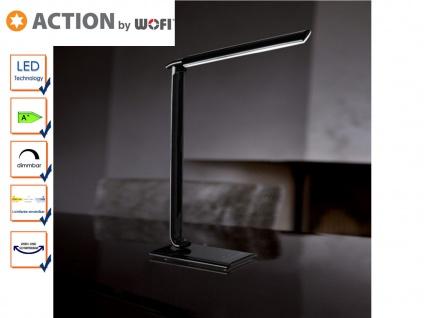 LED Schreibtischlampe schwarz, Dimmer, USB Anschl., Action by Wofi