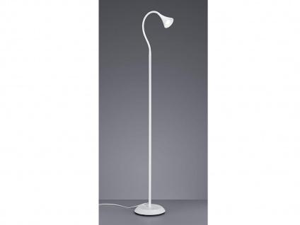 Ausgefallene Designer Stehlampe mit Schwanenhals Leselicht Standleuchte in Weiß