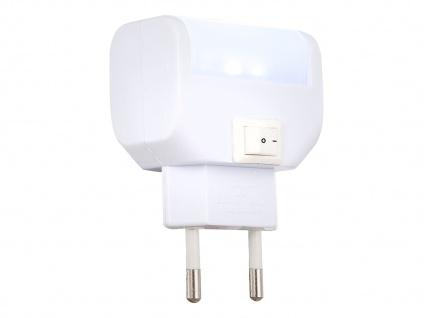 LED Orientierungsleuchte Wandleuchte mit Schalter und Stecker für Steckdose Weiß