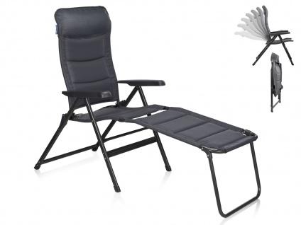 Campingstuhl / Liegestuhl Napoli XL, in 7 Positionen verstellbar, mit Fussablage