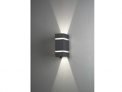 Terrassenlampe aus ALU in anthrazit für außen, Lichtaustritt 0°-90° verstellbar