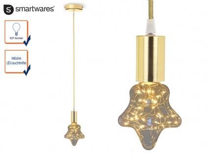 Moderne Lampenaufhängung Goldsockel Textilkabel mit E27 Fassung LED Partylight